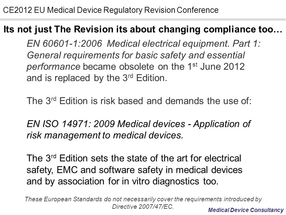 Its not just The Revision its about changing compliance too…