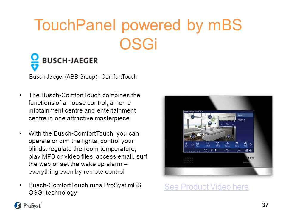 TouchPanel powered by mBS OSGi