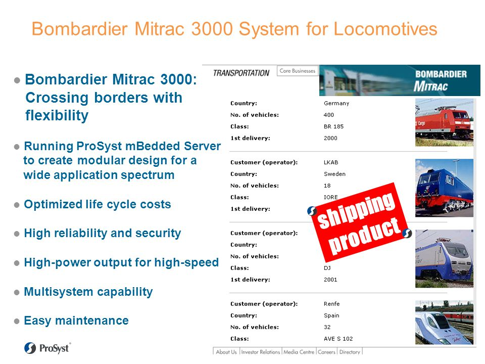 Bombardier Mitrac 3000 System for Locomotives