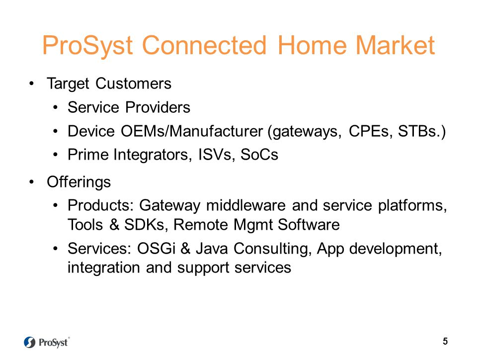 ProSyst Connected Home Market