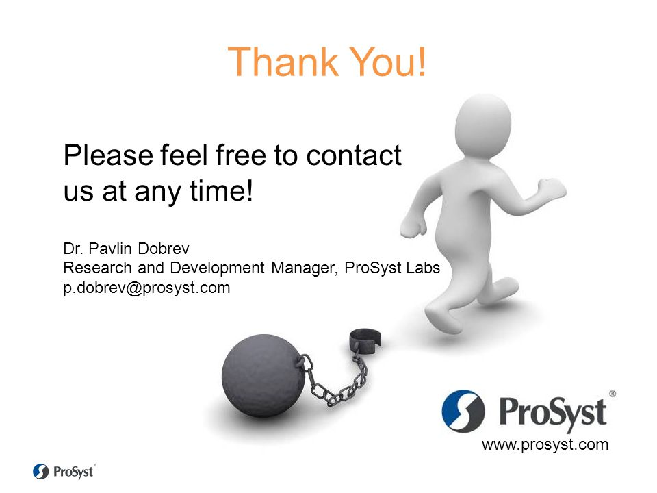 Thank You! Please feel free to contact us at any time!