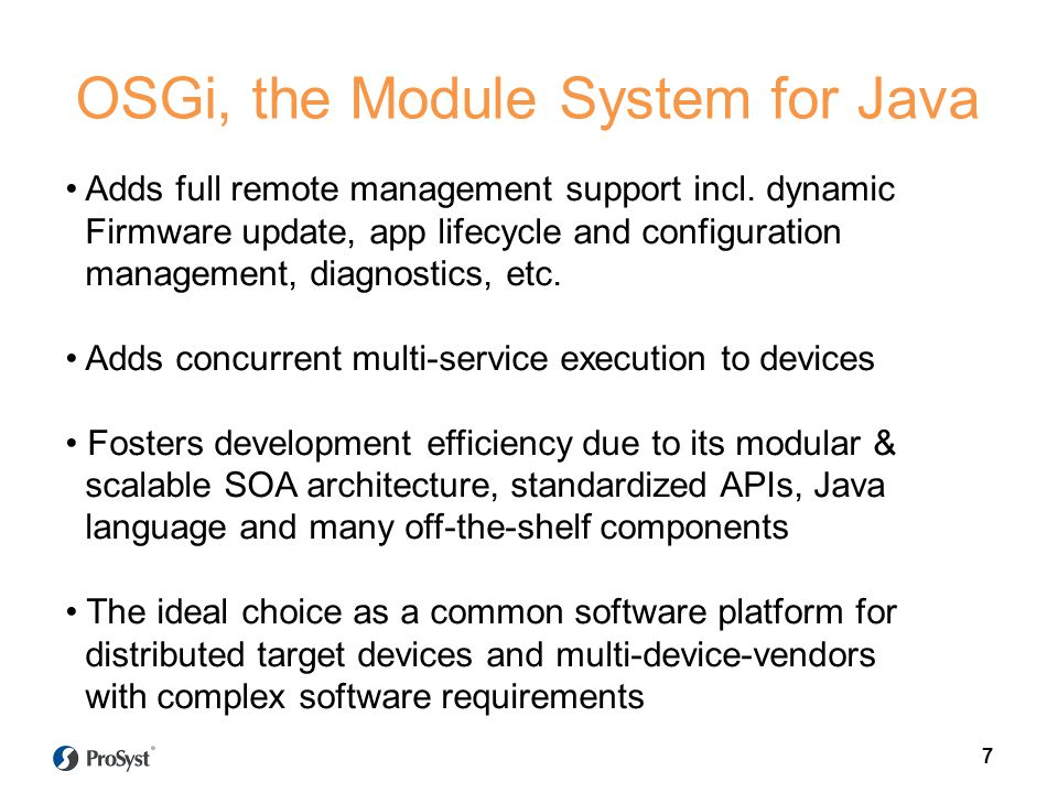 OSGi, the Module System for Java
