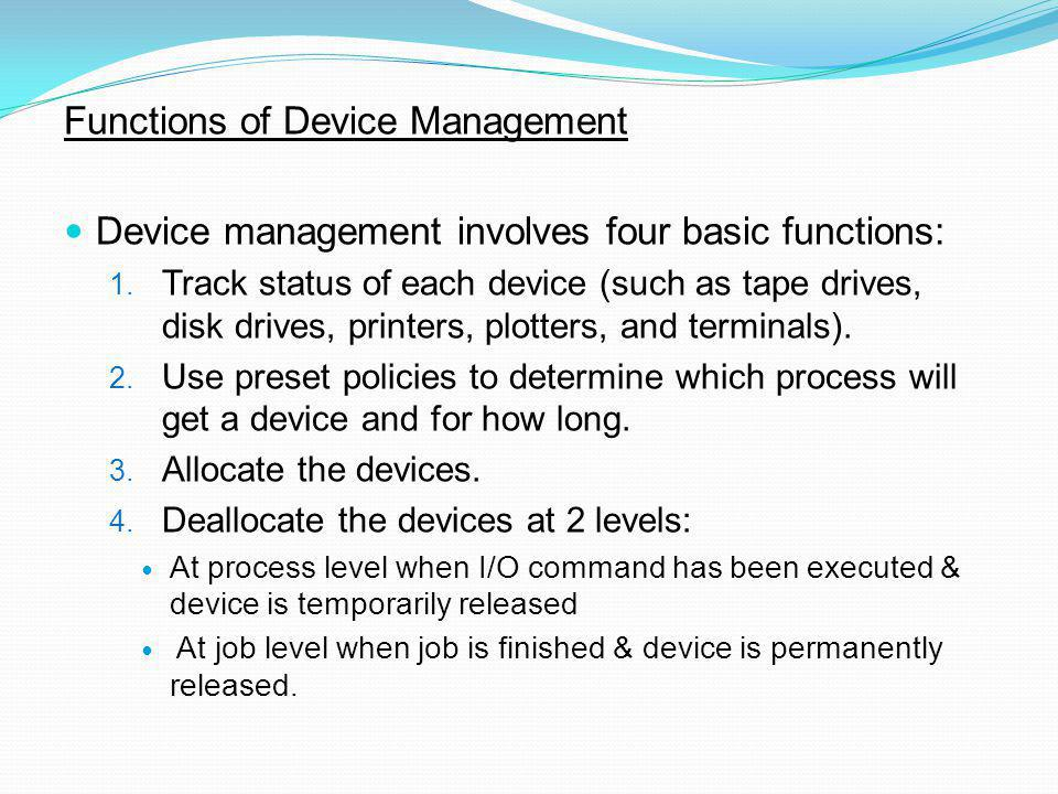 Functions of Device Management
