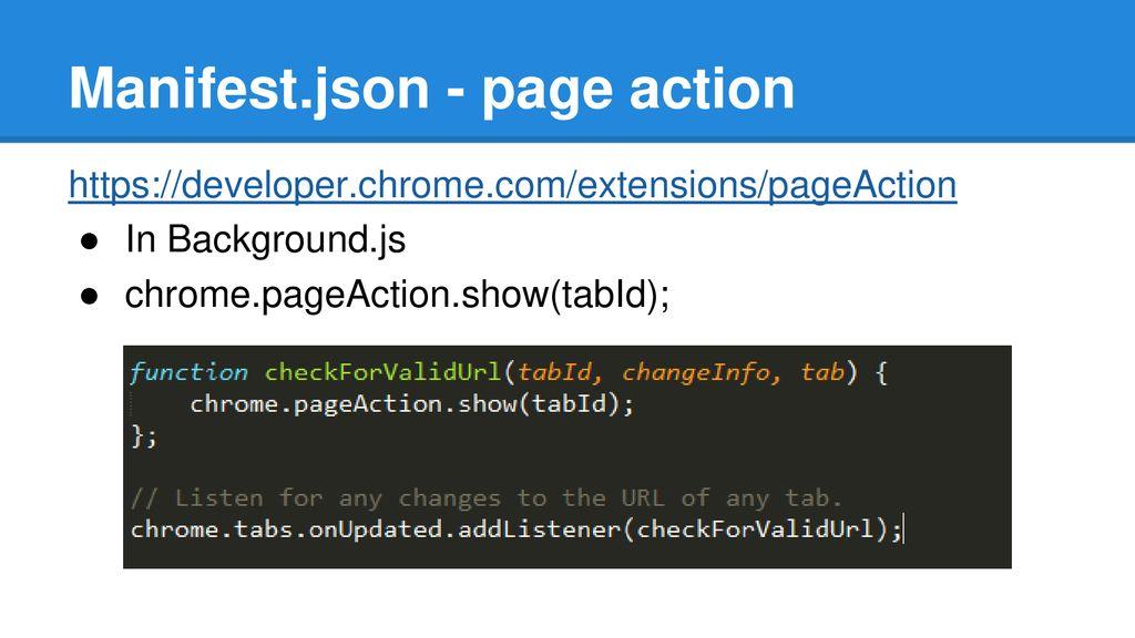 Chrome Json