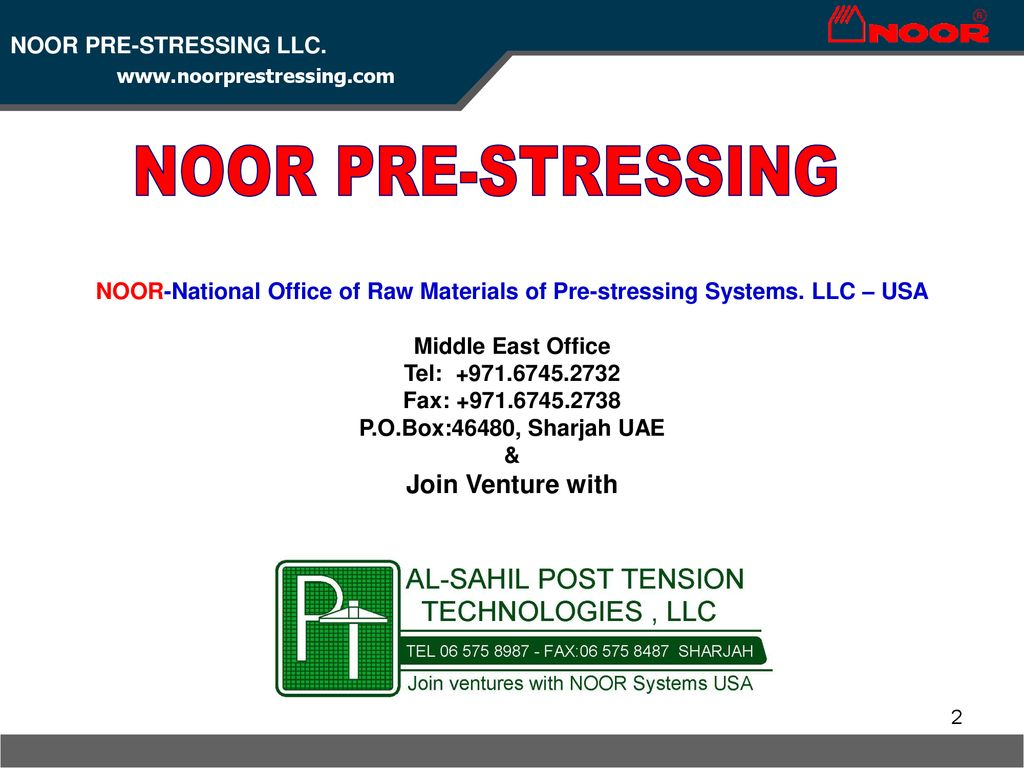 National Office of Raw Materials of Pre-stressing Systems