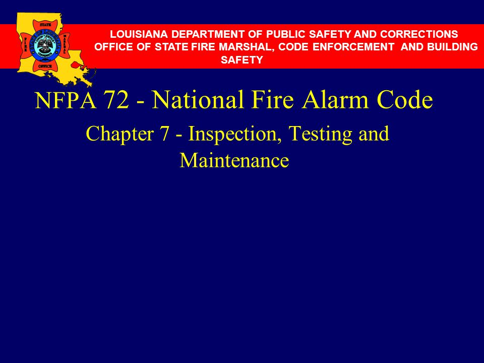 Nfpa 72 National Fire Alarm Code Chapter 4 Notification