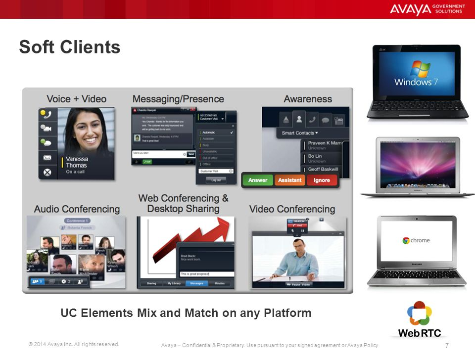 Soft Clients UC Elements Mix and Match on any Platform