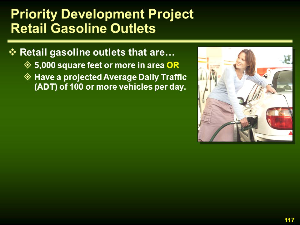 Priority Development Project Retail Gasoline Outlets