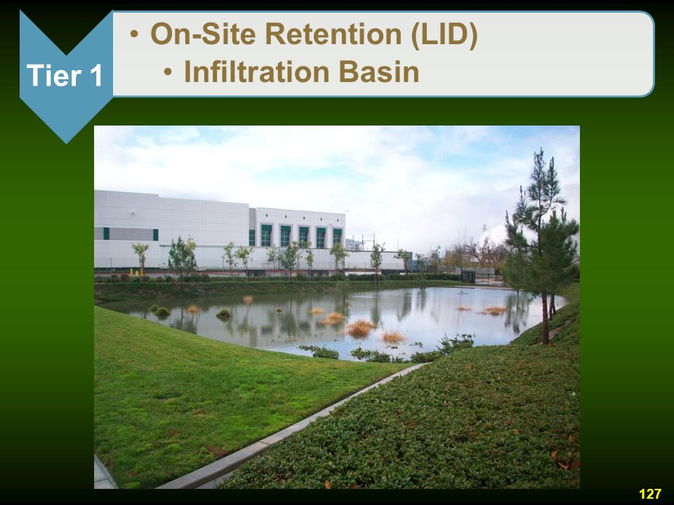 Tier 1 On-Site Retention (LID) Infiltration Basin