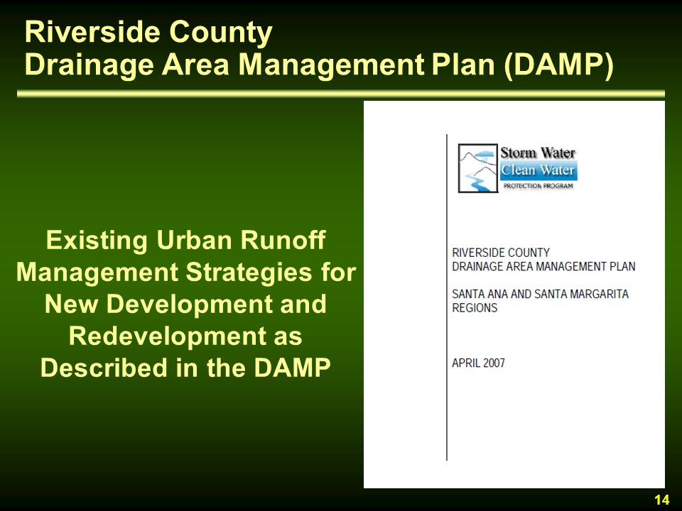 Riverside County Drainage Area Management Plan (DAMP)