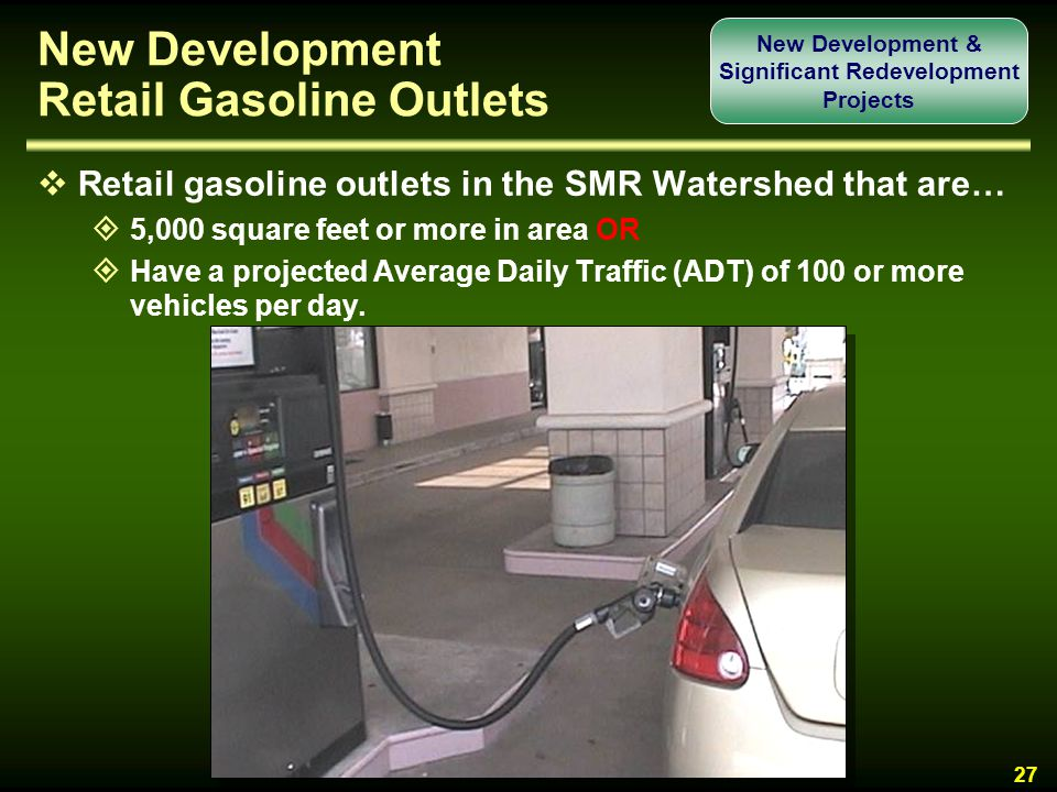 New Development Retail Gasoline Outlets