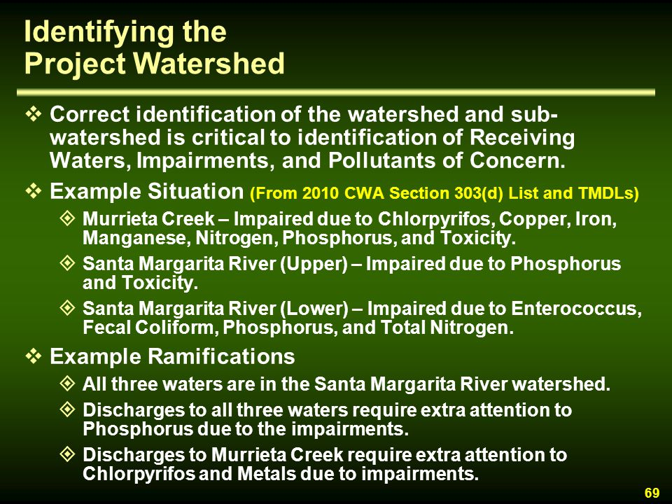 Identifying the Project Watershed