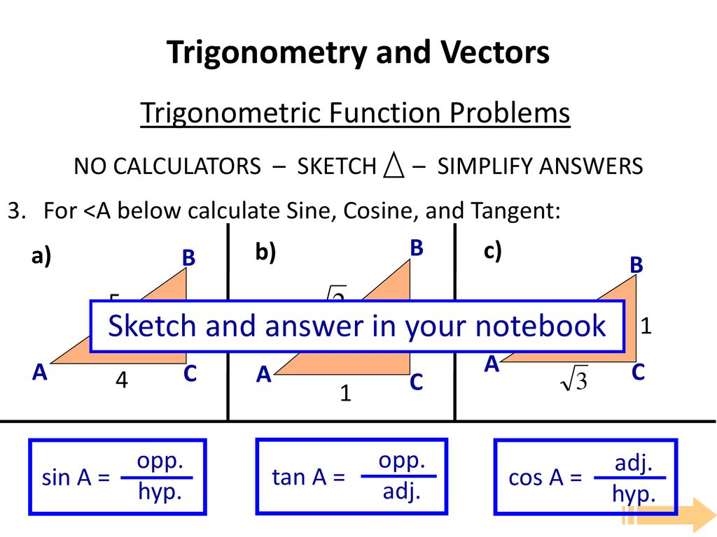 Trigonometry and Vectors - ppt download