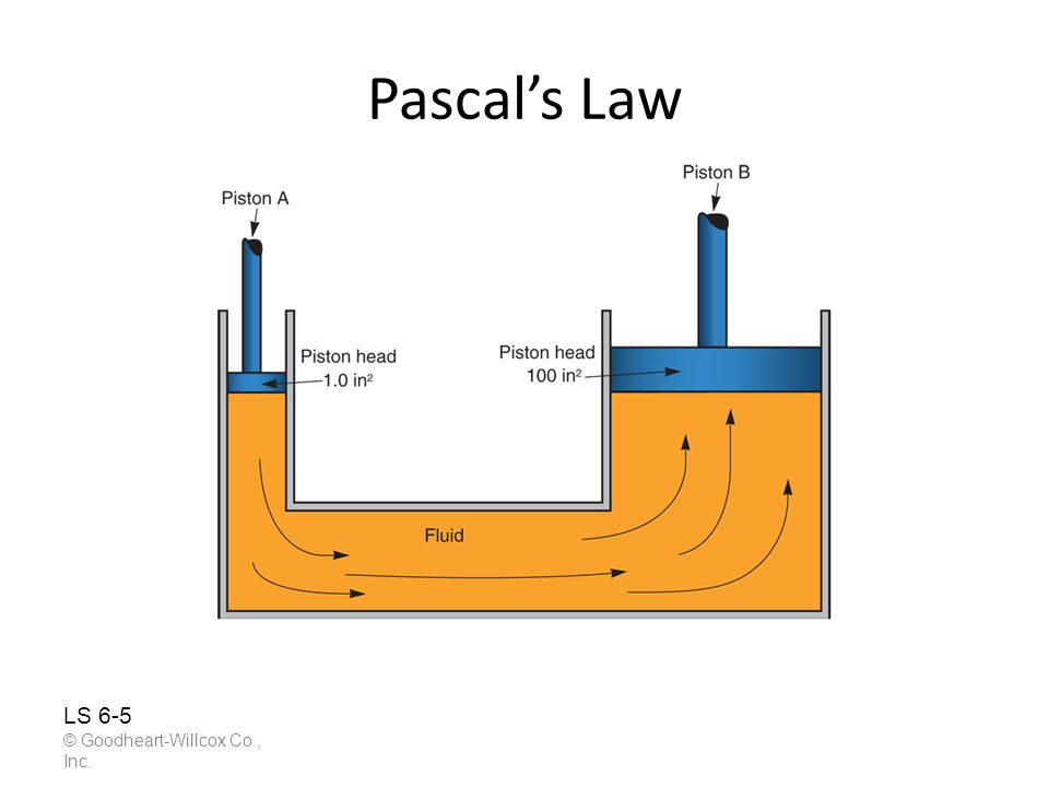 Pascal's Law LS 6-5 © Goodheart-Willcox Co., Inc.