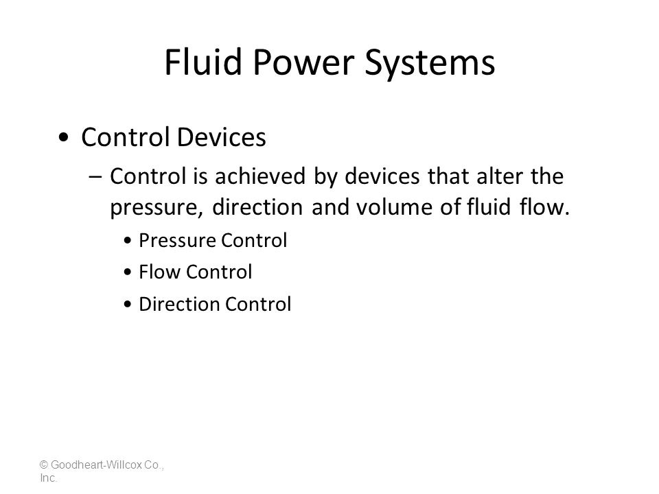 Fluid Power Systems Control Devices