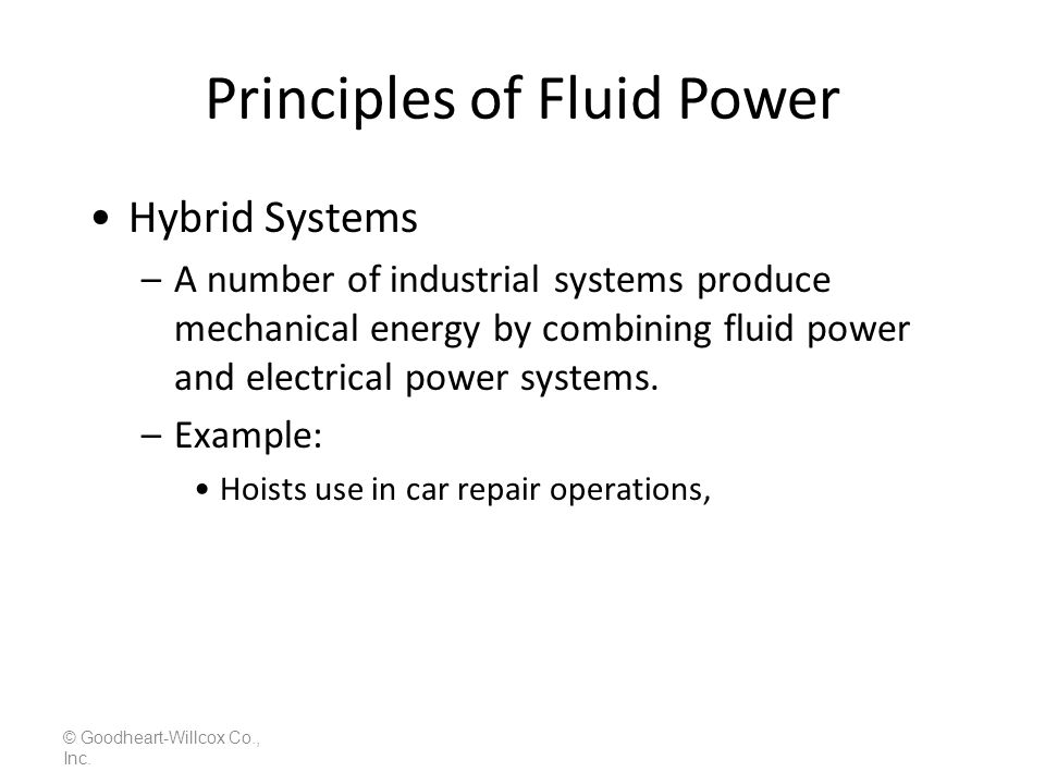 Principles of Fluid Power