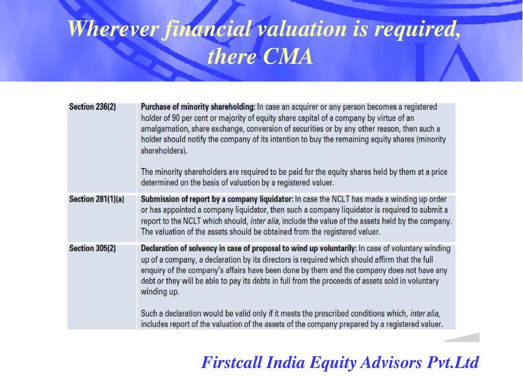 Valuation profession By CMA Dr V V L N  Sastry - ppt download