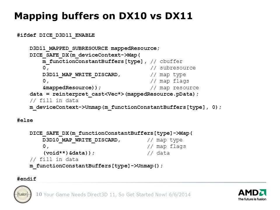 Mapping buffers on DX10 vs DX11