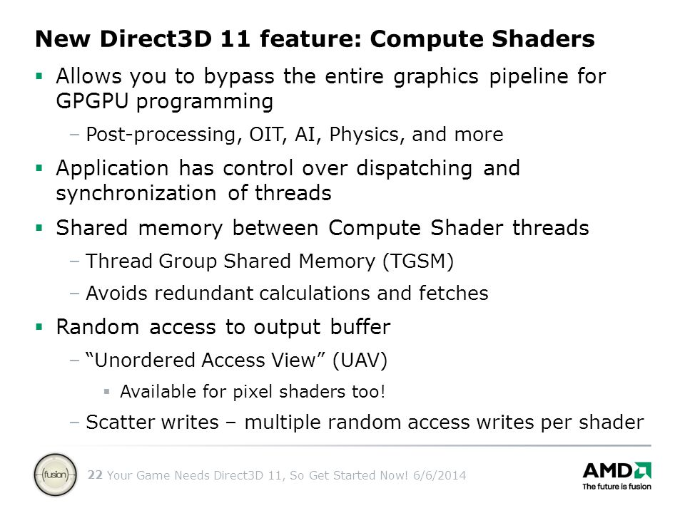 New Direct3D 11 feature: Compute Shaders