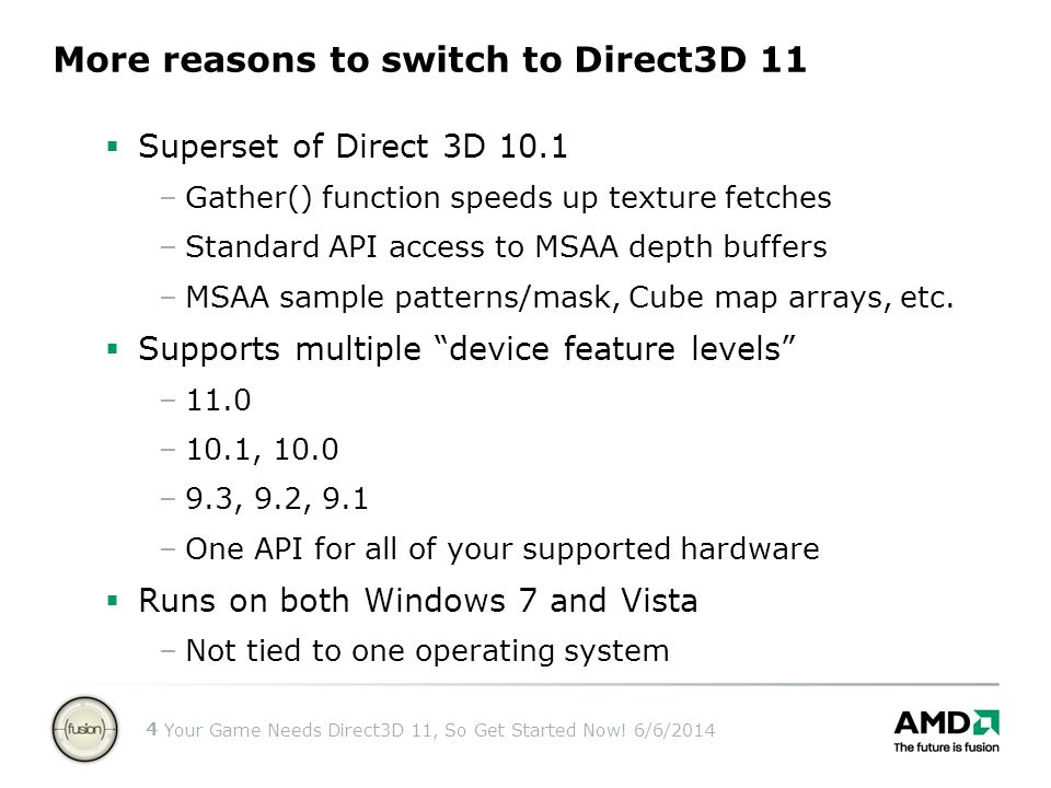 More reasons to switch to Direct3D 11