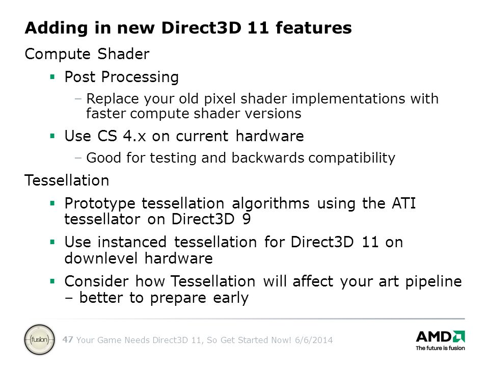 Adding in new Direct3D 11 features