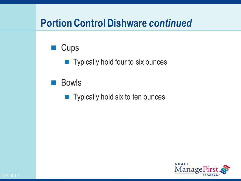 Portion Control Dishware continued