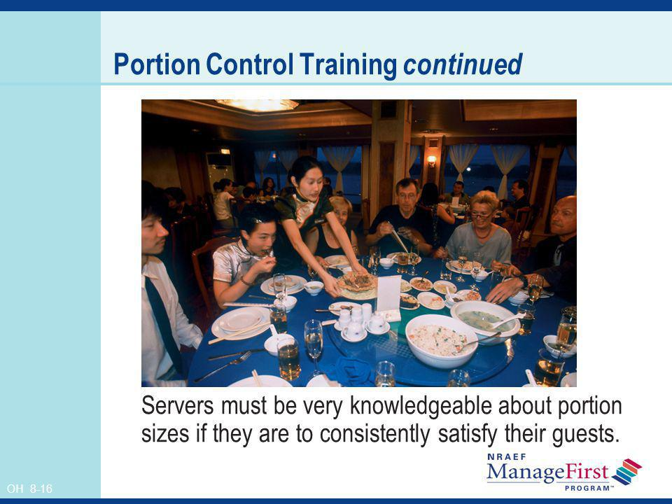 Portion Control Training continued