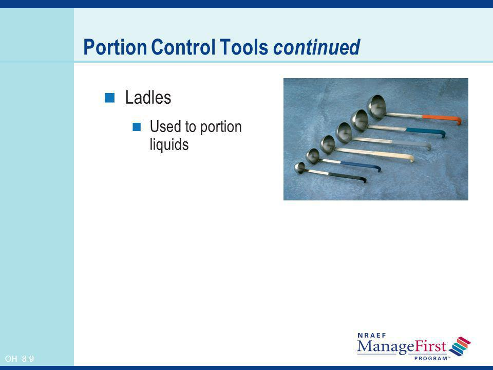Portion Control Tools continued