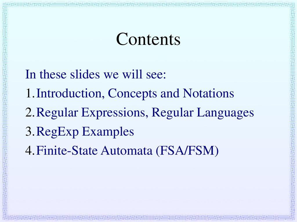 Compiler Design 2  Regular Expressions & Finite State