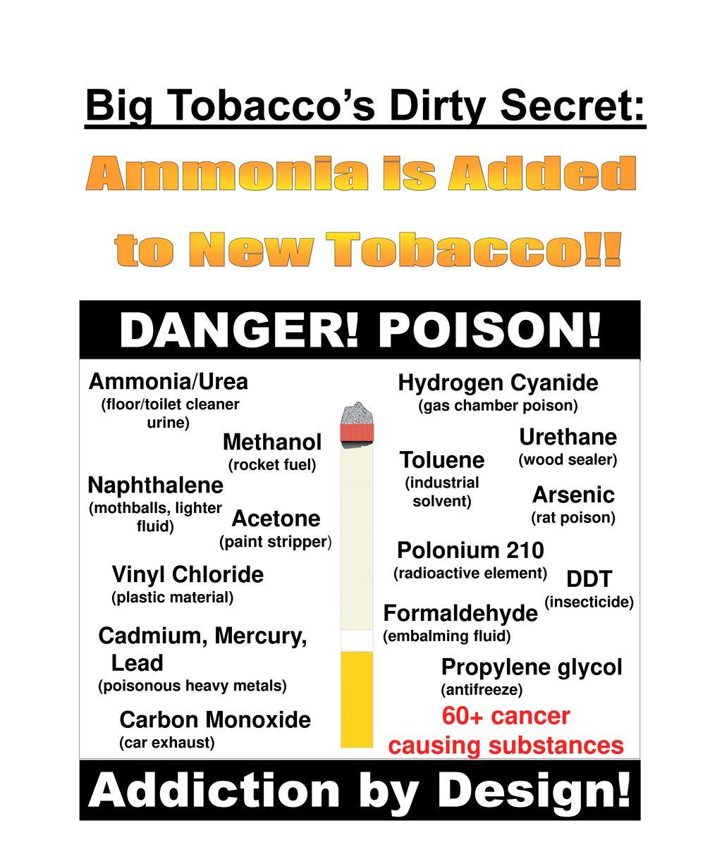 DANGER! POISON! Addiction by Design! Big Tobacco's Dirty Secret