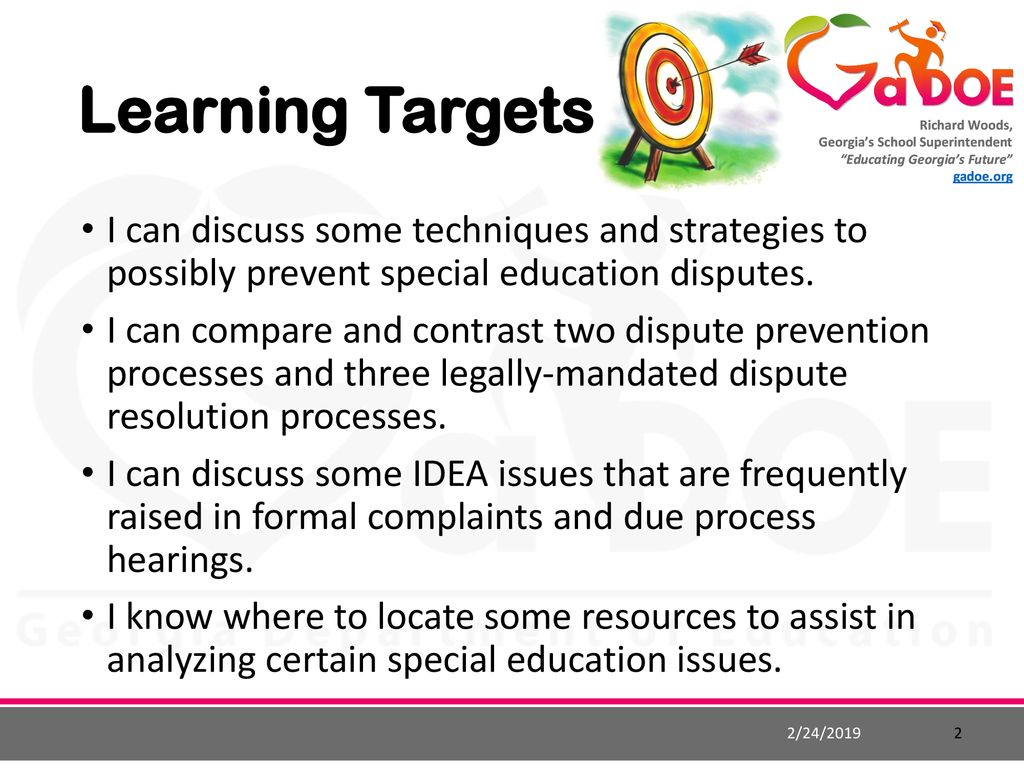 Resolving Special Ed Disputes >> Resolving And Possibly Preventing Special Education Disputes Ppt