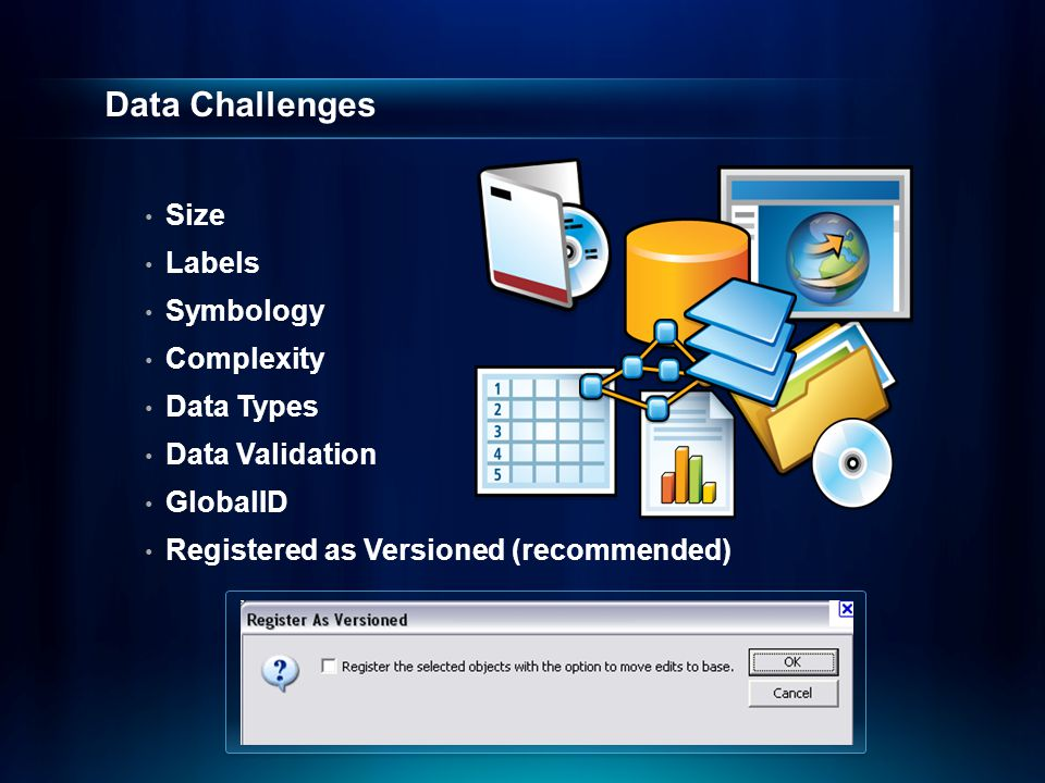 Data Challenges Size Labels Symbology Complexity Data Types