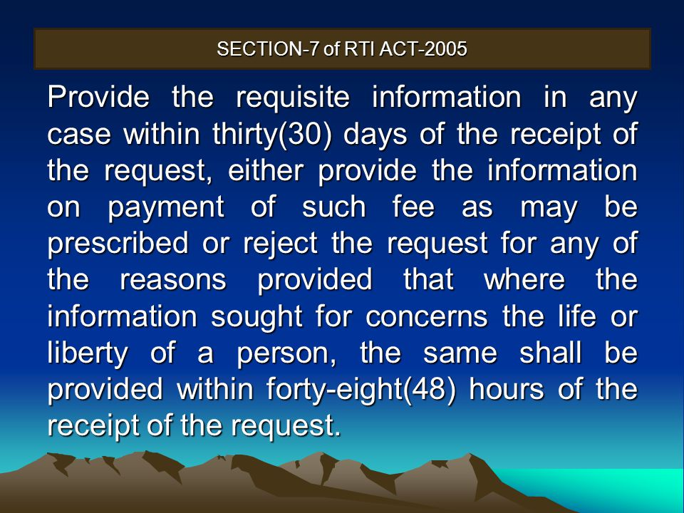 SECTION-7 of RTI ACT-2005