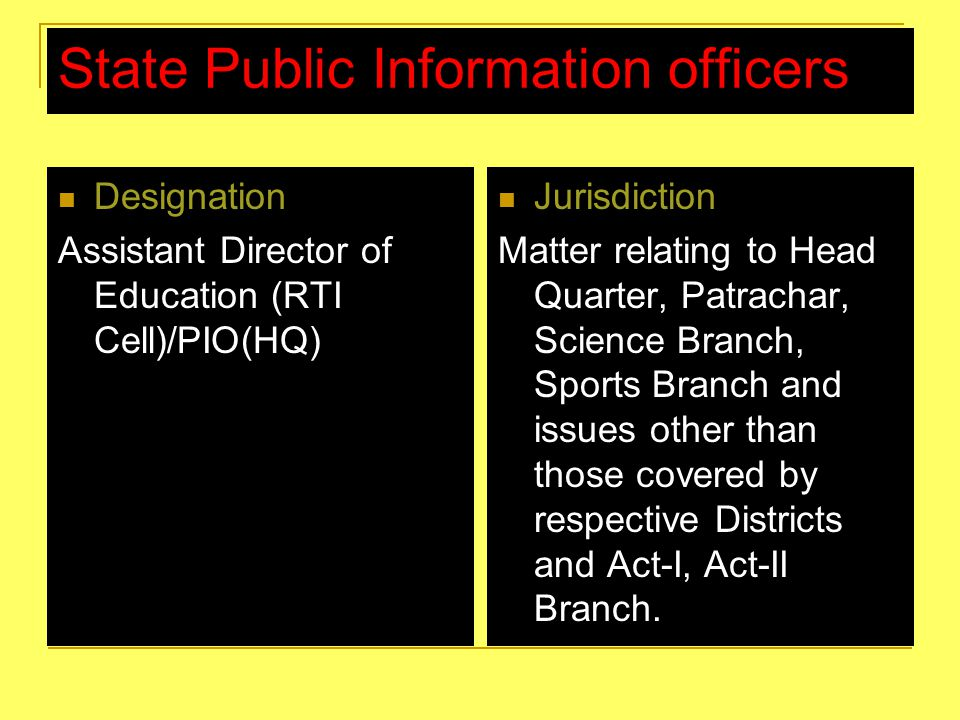 State Public Information officers