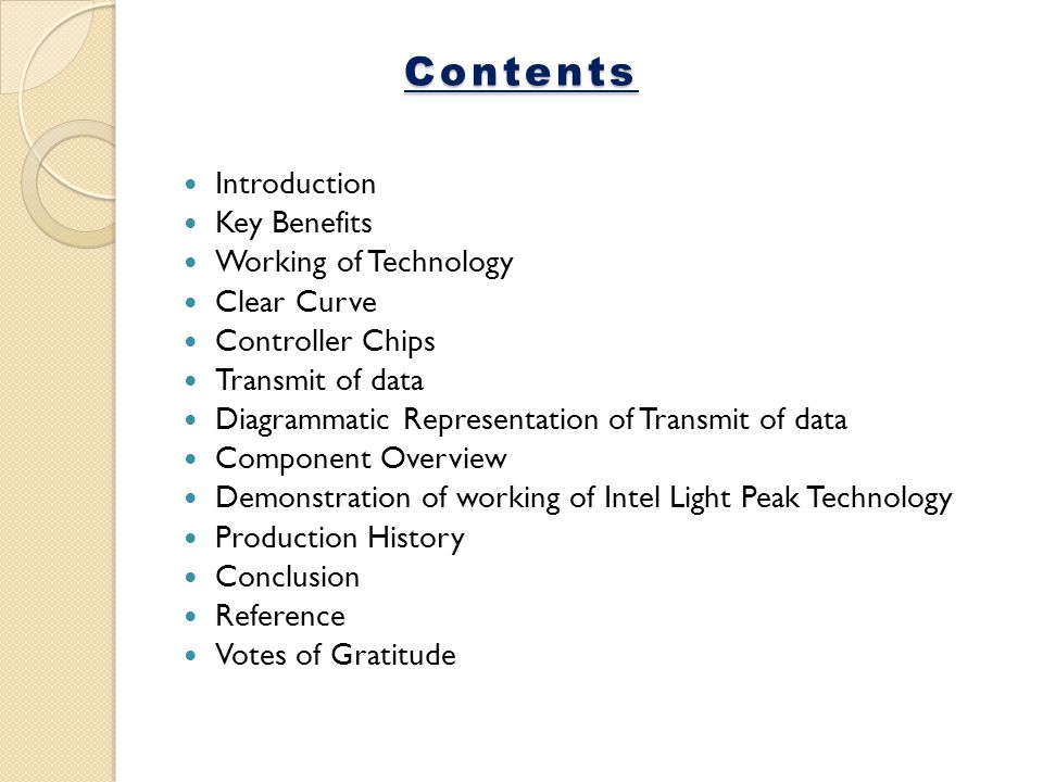 Contents Introduction Key Benefits Working of Technology Clear Curve