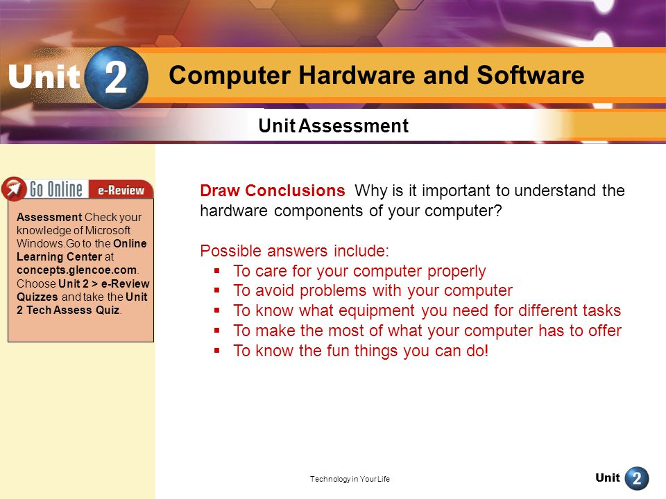 Computer Hardware and Software