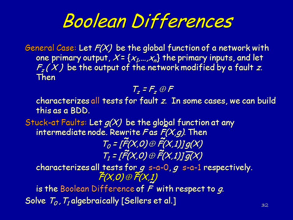 Boolean Differences