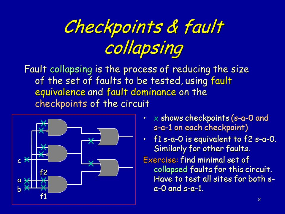 Checkpoints & fault collapsing