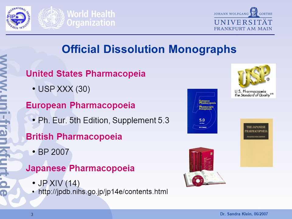 Official Dissolution Monographs