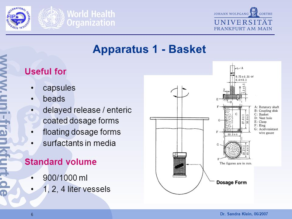 Apparatus 1 - Basket Useful for Standard volume capsules beads