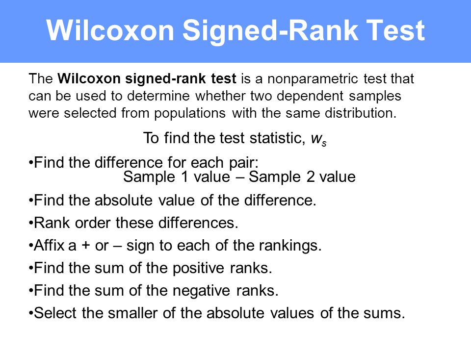 Wilcoxon sign rank test | ucl great ormond street institute of.