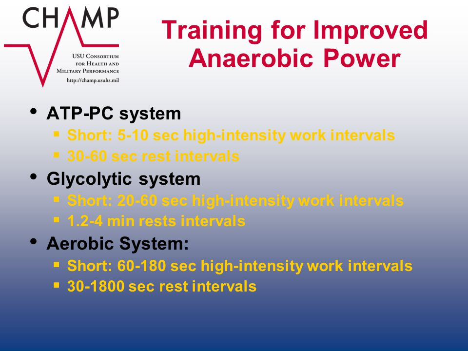Training for Improved Anaerobic Power