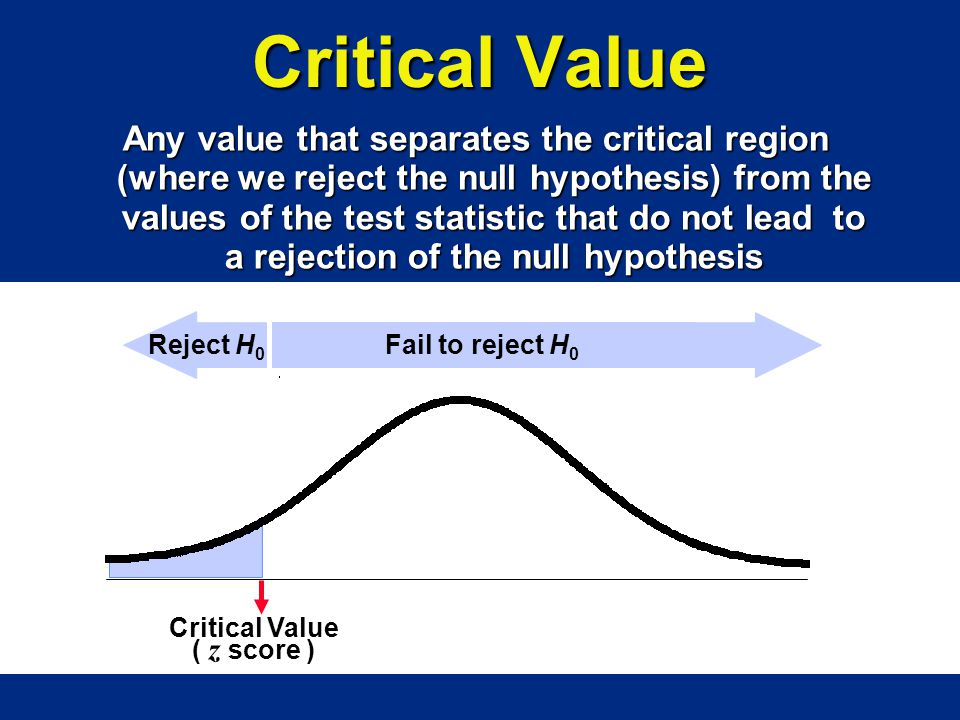 Critical Value