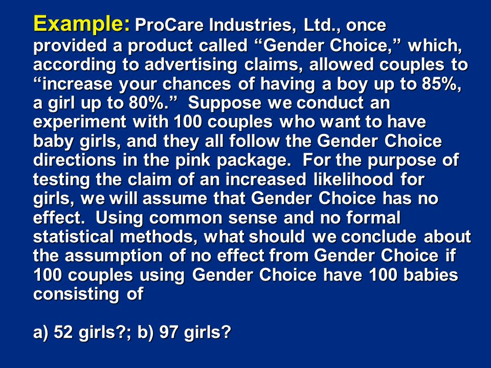 Example: ProCare Industries, Ltd