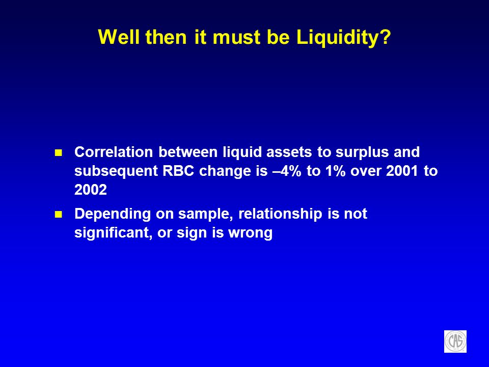 Well then it must be Liquidity