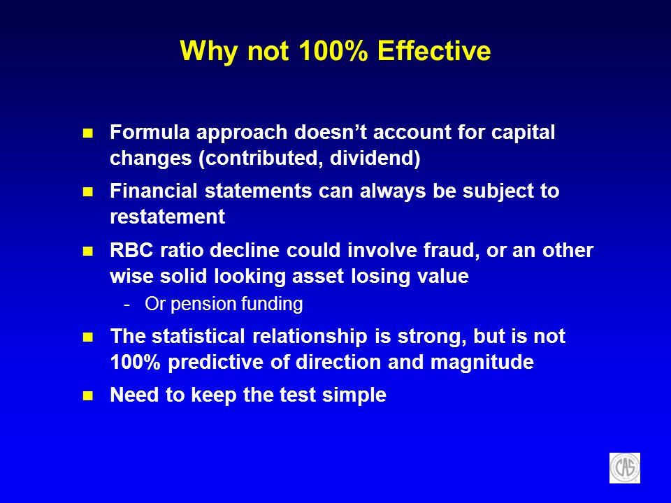 Why not 100% Effective Formula approach doesn't account for capital changes (contributed, dividend)