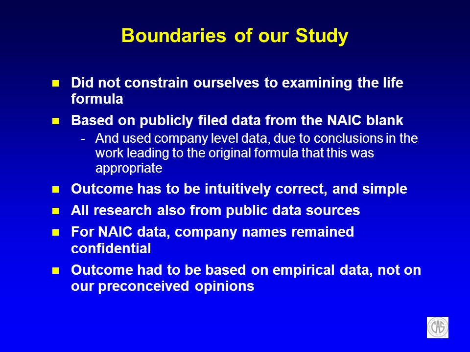 Boundaries of our Study