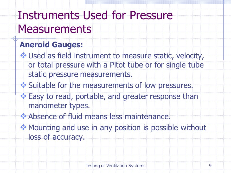 Testing Of Ventilation Systems Ppt Video Online Download