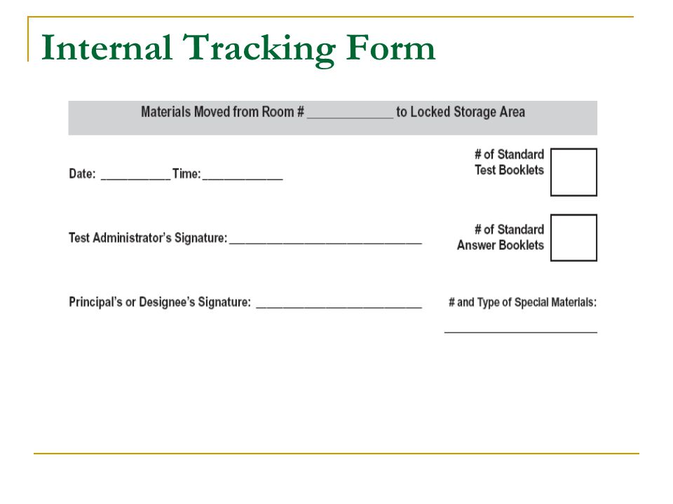 Internal Tracking Form