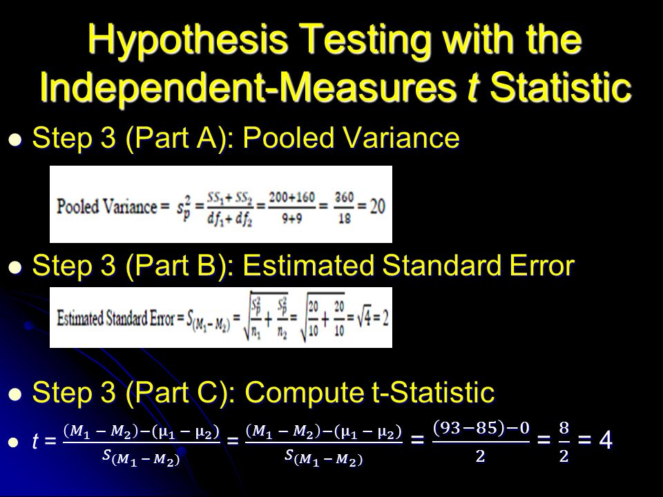 Hypothesis Testing with the Independent-Measures t Statistic